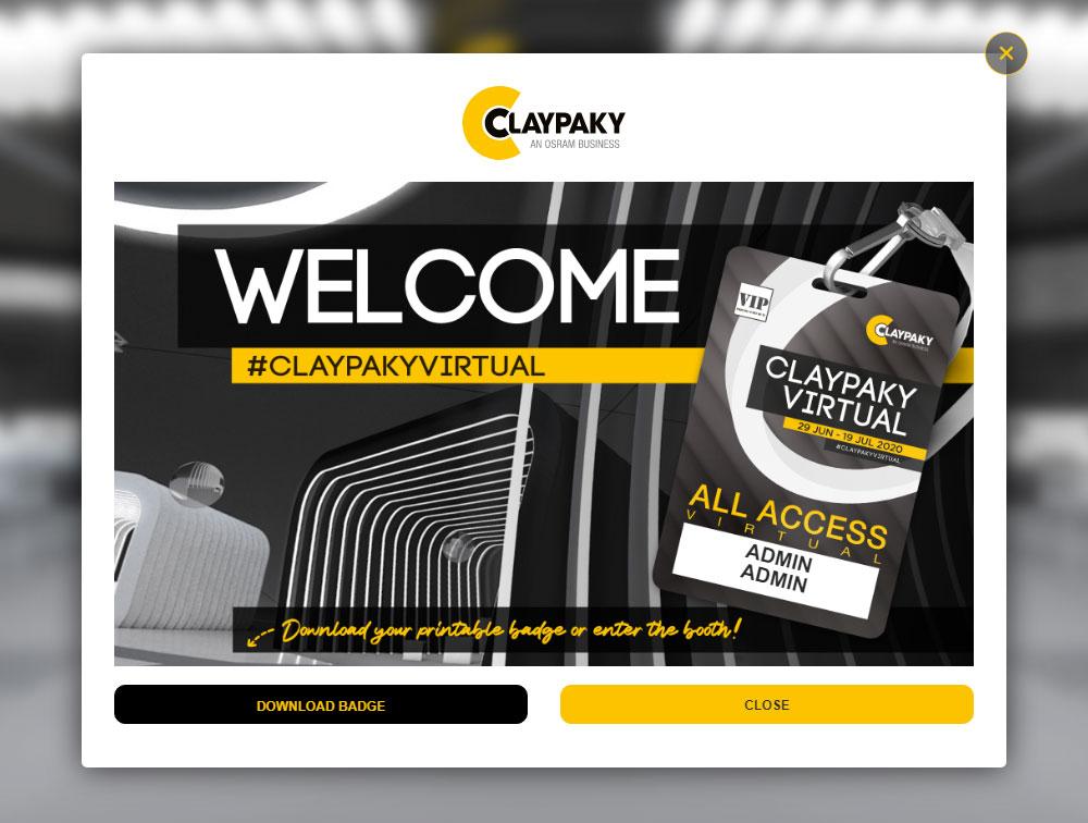 Clay Paky открывает виртуальный стенд
