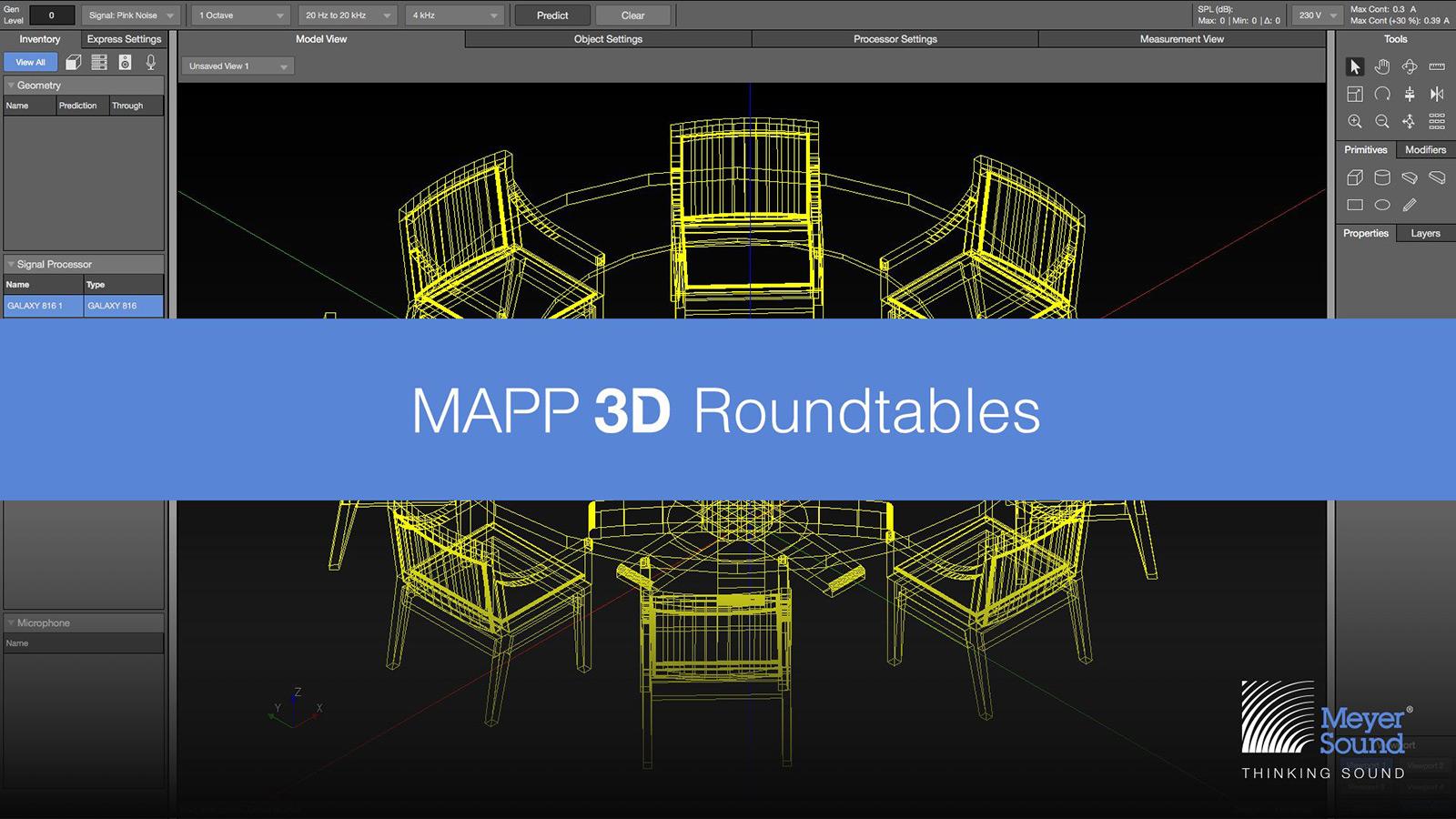 Meyer Sound объявляет о запуске серии открытых круглых столов по MAPP 3D